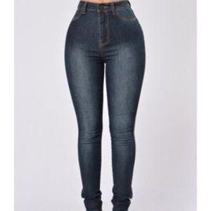 Fashion Nova Klum Jeans In Dark Wash
